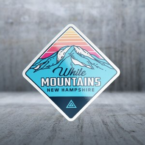 Sticker Pack Mountain GE - Blue Top Retro Decal Large