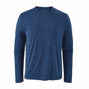 Patagonia Men's Long-Sleeved Capilene Cool Daily Shirt X-Large Viking Blue - Navy Blue X-Dye