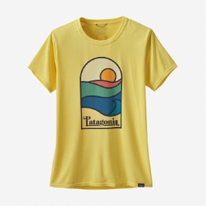 Patagonia Women's Capilene Cool Daily Graphic Shirt M Sunset Sets: Pineapple