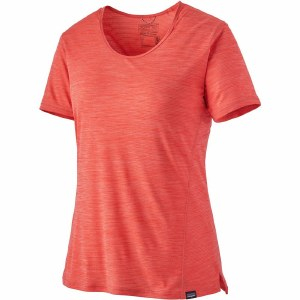 Patagonia W's Capilene Cool Lightweight Short-Sleeve Shirt L Catalan Coral - Dark Catalan Coral