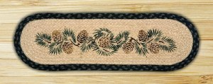 "Capitol Earth Rugs Pinecone Printed Stair Tread 27"" x 8.25"""