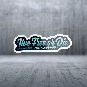 Sticker Pack New Hampshire - Live Free or Die Text Decal Large
