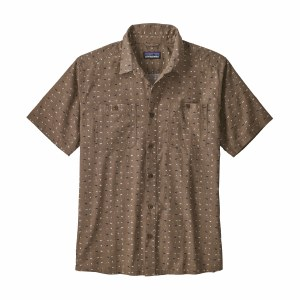 Patagonia Men's Back Step Shirt Medium Tiger Micro: Burnie Brown