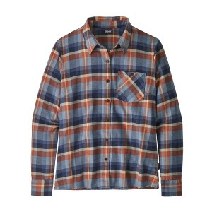 Patagonia Women's Heywood Flannel Shirt 10 Basket: New Navy