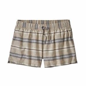 "Patagonia Women's Island Hemp Baggies Shorts - 3"" Medium Tarkine Stripe Small: Marrow Grey"