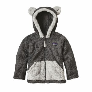 Patagonia Baby Furry Friends Hoody 12-18 Mos Forge Grey