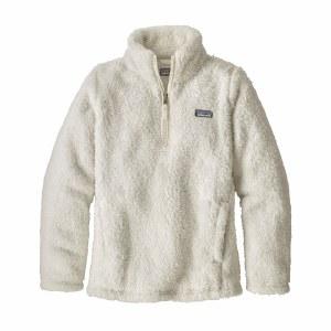 Patagonia Girls' Los Gatos 1/4-Zip Fleece Medium Birch White