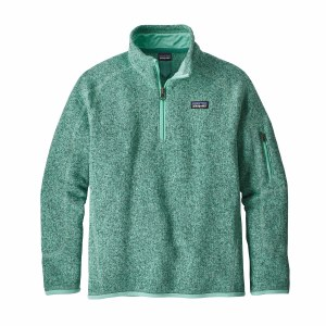 Patagonia Girls' Better Sweater 1/4 Zip Fleece Small Vjosa Green