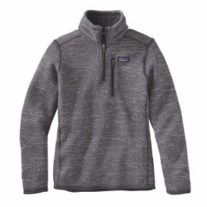 Patagonia Boys' Better Sweater 1/4 Zip Fleece Small Nickel