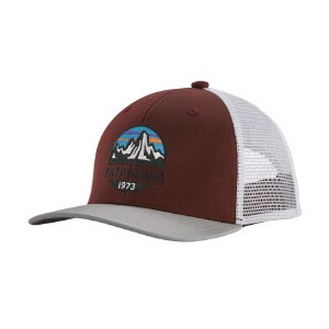 Patagonia Kids Trucker Hat One Size Fitz Roy Scope: Dark Ruby
