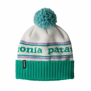 Patagonia Kids' Powder Town Beanie One Size Park Stripe: Plains Green