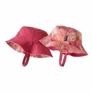 Patagonia Baby Sun Bucket Hat 3-6 M Wild Waratah: Petra Pink
