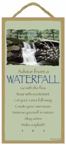 """SJT Enterprises Advise From The Waterfall Sign 5""""x10"""""""
