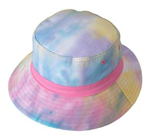 Broner Kids Pink Tie Dye Bucket Hat, Solid Band Youth