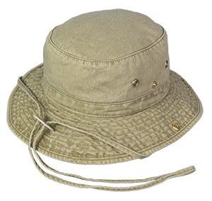 Broner Washed Cotton Floater Hat M Khaki