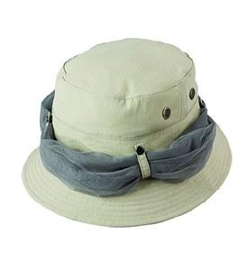 Broner Nylon Bucket Hat, Mesh Netting L Khaki