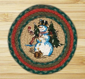 """Capitol Earth Rugs Winter Wonder Round Printed Swatch 10"""" x 10"""""""