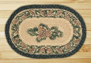 """Capitol Earth Rugs Pinecone Oval Printed Swatch 10"""" x 15"""""""