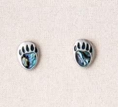 A.T. Storrs Bear Paw-Stud Earrings