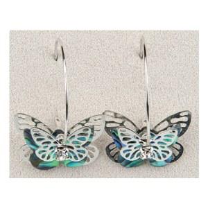 A.T. Storrs Butterfly Hoop Earrings