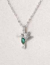 A.T. Storrs Dainty Hummingbird Necklace