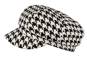 Broner Wool Blend Cabby Cap One Size Houndstooth