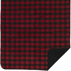 "Denali Large Bunk House Plaid Microplush Throw 60""x70"" Red/Black"