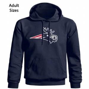 Woods & Sea Patriot Moose Adult Hoodie Small Navy