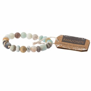 Scout Currated Wears Stone Stacking Bracelet SS Amazonite