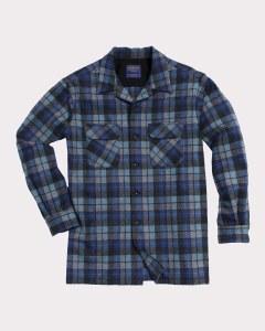 Pendleton Board Shirt Medium Blue Original Surf Plaid