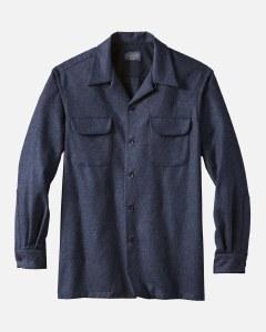Pendleton Solid Board Shirt Tall XXLT Navy Mix