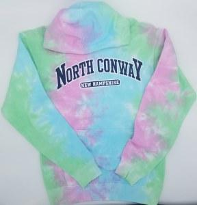 Luba Designs Adult Tie Dye Hoodie Large Seafoam/Aqua/Pink