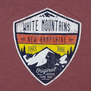 Duck Co. Alpine Crest New Hampshire S/S Tee Large Heather Burgandy
