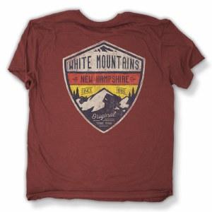 Duck Co. Alpine Crest New Hampshire S/S Tee Small Heather Burgandy