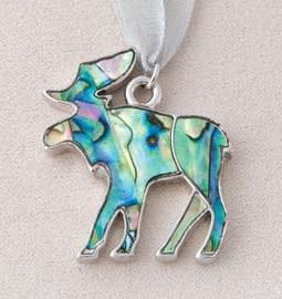 A.T. Storrs Silver Bells Moose Ornament