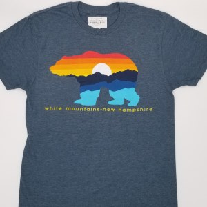 Duck Co. Mountain Bear Vintage S/S Tee Small Heather Blue
