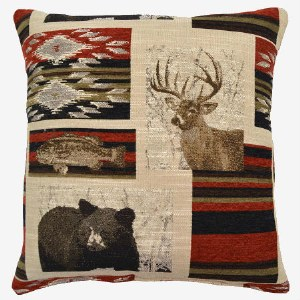 Creative Home Furnishings Bennington Pillow 17x17 Redstone