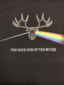 Dave's Tees Dark Side of the Moose S/S Tee Small Black