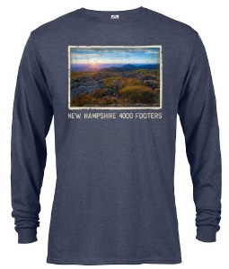 The Rugged Mill 4000 Footer L/S Tee XS Denim Heather