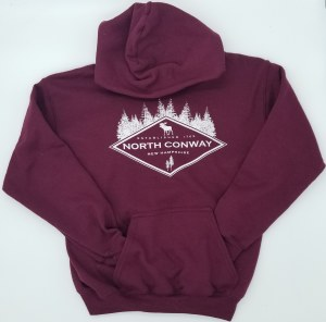 Luba Designs Diamond New Hampshire Adult Hoodie Large Maroon