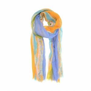 Joy Susan Sunset Stripe Scarf 90x180cm Tangerine