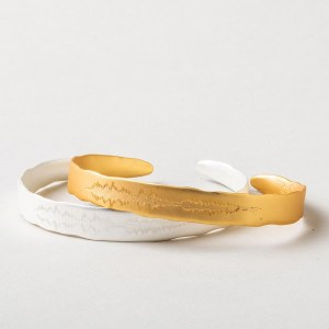"""Scout Currated Wears Echo Cuff: """"You are capable of brave"""" EC 14K Gold Dipped"""