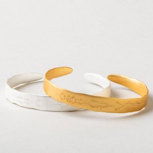 "Scout Currated Wears Echo Cuff: ""Live in the sunshine"" EC Sterling Silver Dipped"