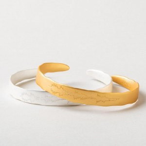"""Scout Currated Wears Echo Cuff: """"She was clothed in strength"""" EC 14K Gold Dipped"""