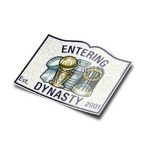 """The Boston Sports Apparel Entering Dynasty Sticker 5"""" N/A"""