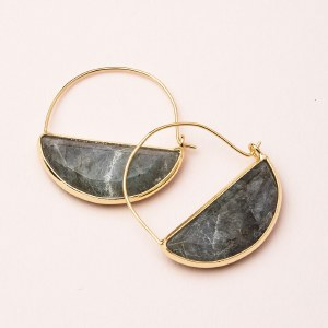 Scout Currated Wears Stone Prism Hoop Earring STONE PRISM HOOP  Laborite/Gold