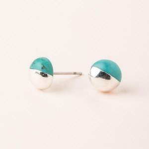 Scout Currated Wears Dipped Stone Stud Earring DIPPED STONE STUDS  Turquoise/Silver
