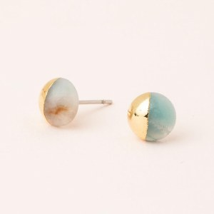 Scout Currated Wears Dipped Stone Stud Earring DIPPED STONE STUDS  Amazonite/Gold