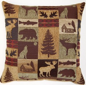Creative Home Furnishings Fairbanks Pillow 17x17 Evergreen
