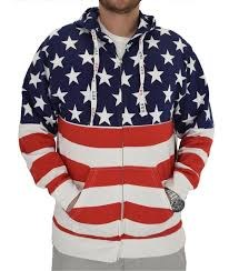 Luba Designs USA Zipper Hoodie L RWB